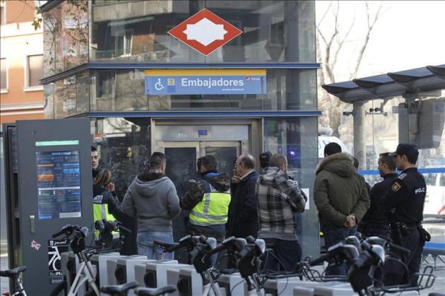 Estación de Embajadores, escenario del crimen
