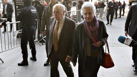 Pujol y Ferrusola, a su llegada a los juzgados