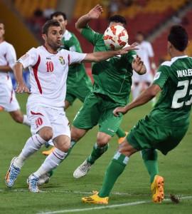 Imagen del partido que enfrentó a Irak y Jordania