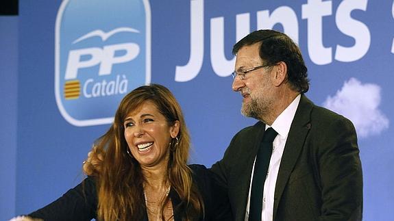 Rajoy y Sánchez Camacho