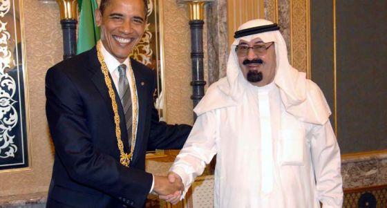 Obama y el rey de Arabia Saudí, Abdalá bin Abdelaziz, en 2009.