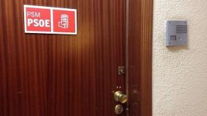 La puerta del despacho de Tomás Gómez