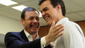Pedro Sánchez y Tomás Gómez.