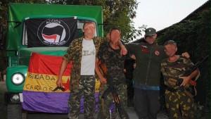 Combatientes de la denominada 'Brigada Internacional Carlos Palomino'.