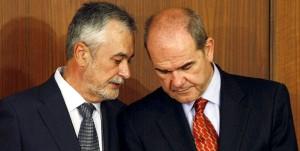Los ex presidentes de la Junta de Andalucía Manuel Chaves y José Antonio Griñán