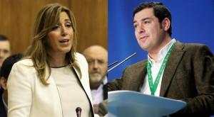 Susana Díaz y Juan Manuel Moreno Bonilla