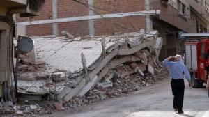 Efectos del terremoto de Lorca, en Murcia, en el 2011.