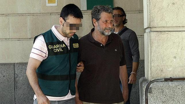 Federico Fresneda cuando fue detenido por la Guardia Civil