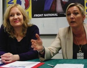 Sophie Montel y Marine Le Pen