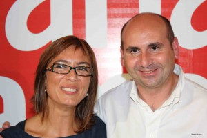Paco Conejo junto a María Gámez, candidata socialista a la Alcaldía de Málaga