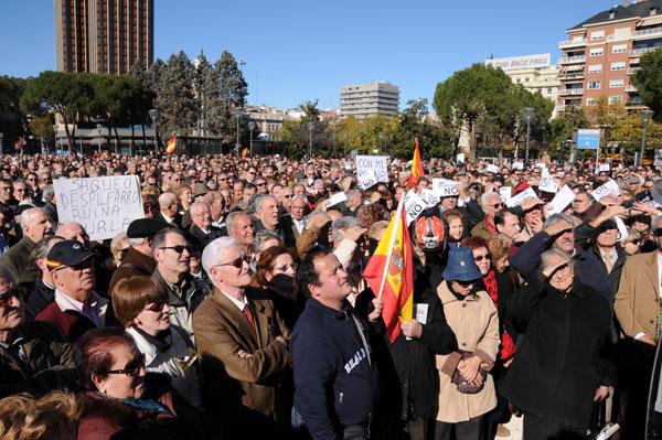 Concentración en Madrid de la Plataforma de las Clases Medias