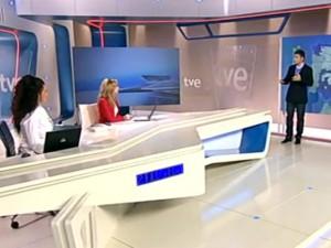 El plató de los Informativos de RTVE.