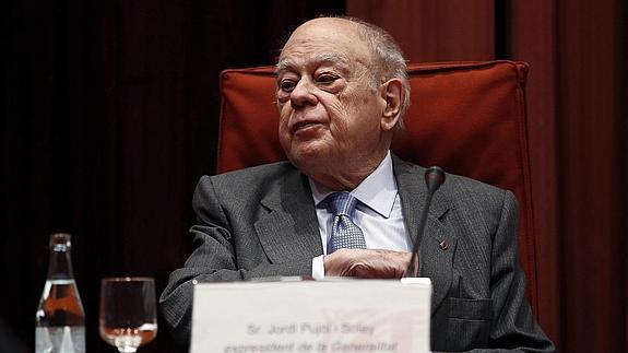 Jordi Pujol, durante su comparecencia en el Parlament.