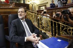 Mariano Rajoy, al inicio de la segunda jornada del Debate sobre el estado de la Nación.