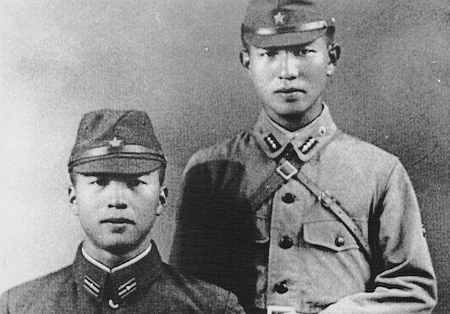 Dos soldados del ejército japonés, durante la II Guerra Mundial