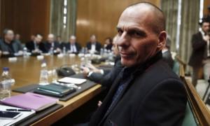 El nuevo ministro de Finanzas griego, Yanis Varoufakis, en el primer Consejo de Ministros