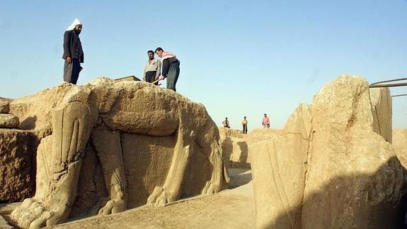 Restos arqueológicos de Nimrud, en una imagen de 2001.