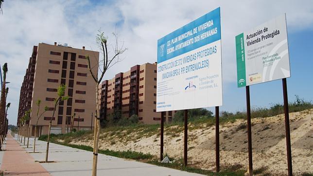 Viviendas en construcción en Dos Hermanas (Sevilla).