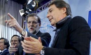 Ignacio González y Mariano Rajoy en un acto del PP.