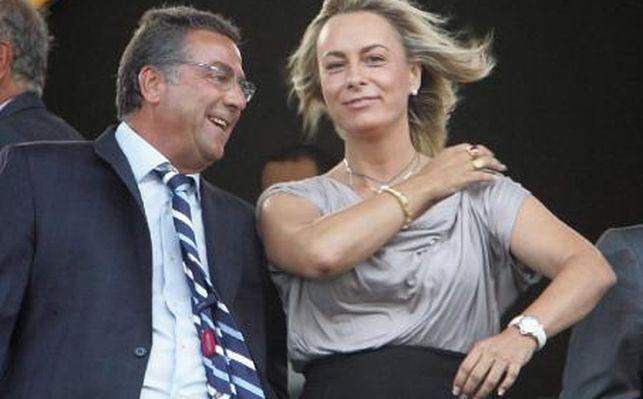 Enrique Ortiz y la exalcaldesa de Alicante, Sonia Castedo.