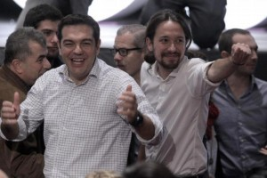 Alexis Tsipras y Pablo Iglesias