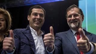 Juanma Moreno y Mariano Rajoy, esta tarde