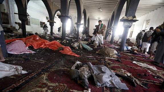 El interior de una de las mezquitas.
