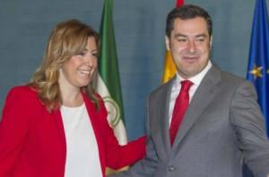 Susana Díaz y Juan Manuel Moreno