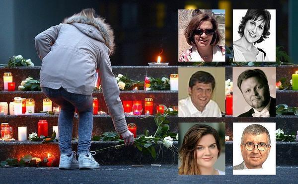 De izquierda a derecha y de arriba a abajo, Pilar Vicente, María de Pablo Nuño, Josep Sabaté Casellas, Oleg Bryjak, María Radner y Rogelio Oficialdegui.