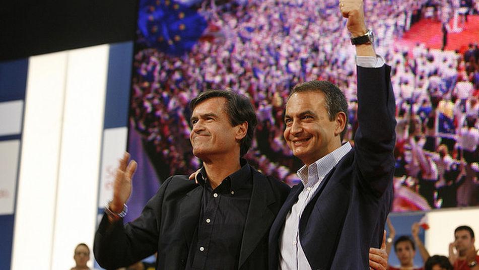 Juan Fernando López Aguilar (i) y Rodríguez Zapatero
