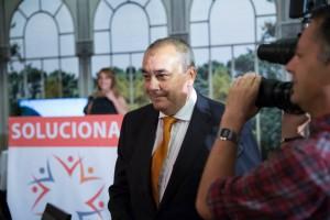 Armando Robles, durante el acto de presentación de la candidatura de SOLUCIONA a la Alcaldía de Málaga