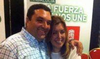 Antonio Cerrillo, candidato del PSOE en Cantoria, junto a Susana Díaz