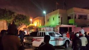 Imagen de la Embajada de España en Trípoli a las 00.30 horas del 21 de abril.
