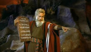 Charlton Heston en los 10 Mandamientos