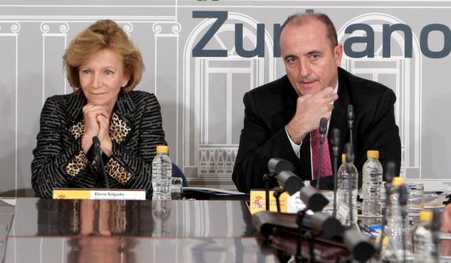 Los exministros Elena Salgado y Miguel Sebastián.