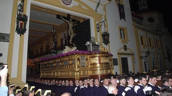 El Cristo de la Expiración, en su salida procesional.