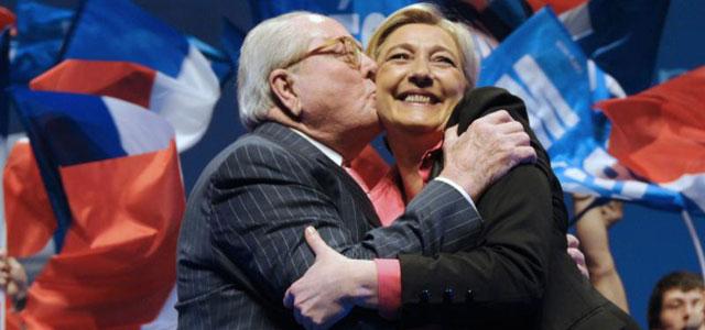 Jean Marie y Marine Le Pen. Eran otros tiempos.