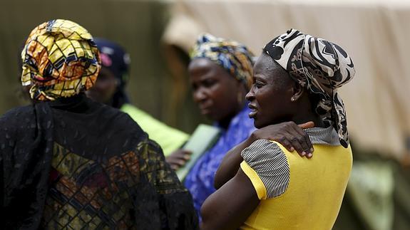 Varias mujeres rescatadas en el bosque de Sambisa.