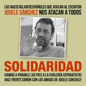 Banner creado por Juan Carlos García para apoyar a Josele Sánchez  frente a la campaña que está sufriendo por parte de la izquierda separatista vasca