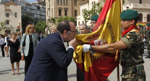 Jura de bandera de 2014 en el cuartel del Bruc de Barcelona