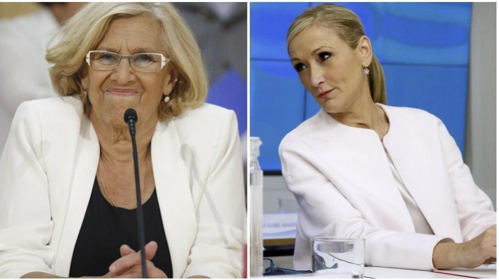 Manuela Carmena y Cristina Cifuentes.