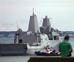 l USS San Antonio abandonó ayer el puerto de Tallin para patrullar el Báltico.