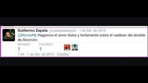 Tuit de Zapata cruzado con un candidato de «Ganar Alcrocón»