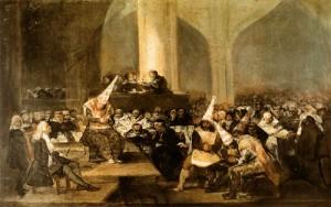 Goya - Tribunal de Inquisición - Hacia 1812-1819 - Museo de la Real Academia