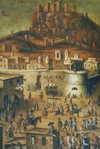 Embarque de los moriscos desde el Puerto de Alicante [dos fragmentos]