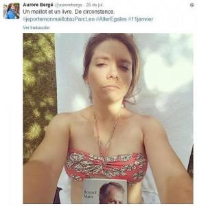 Hashtag #jeportemonmaillotauparc (me pongo mi traje de baño en el parque)