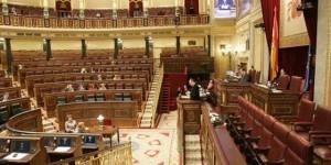 Congreso de los Diputados prácticamente vacio