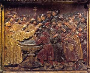 La conversión de los moriscos. Retablo de Felipe Vigarny