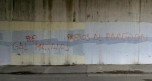 Pintadas contra ETA y a favor del GAL en Amurrio