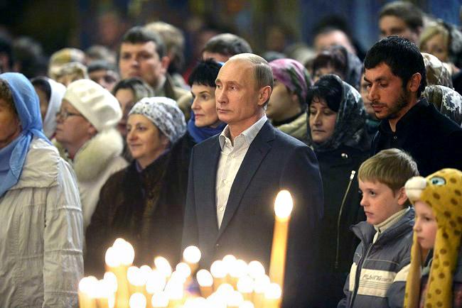 Putin, en una ceremonia religiosa